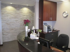 Our welcoming reception desk